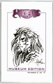 Witchblade Museum Edition Original Signed Michael Turner Remarked Sketch COA Jay Company